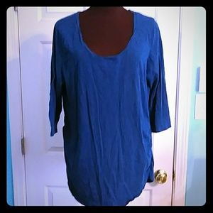 Two Hearts Maternity Size 2X Teal 3/4 Sleeve Tee
